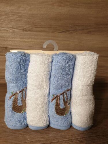 Baby Badetuch Faultier 2er Pack und 4er Set Waschlappen