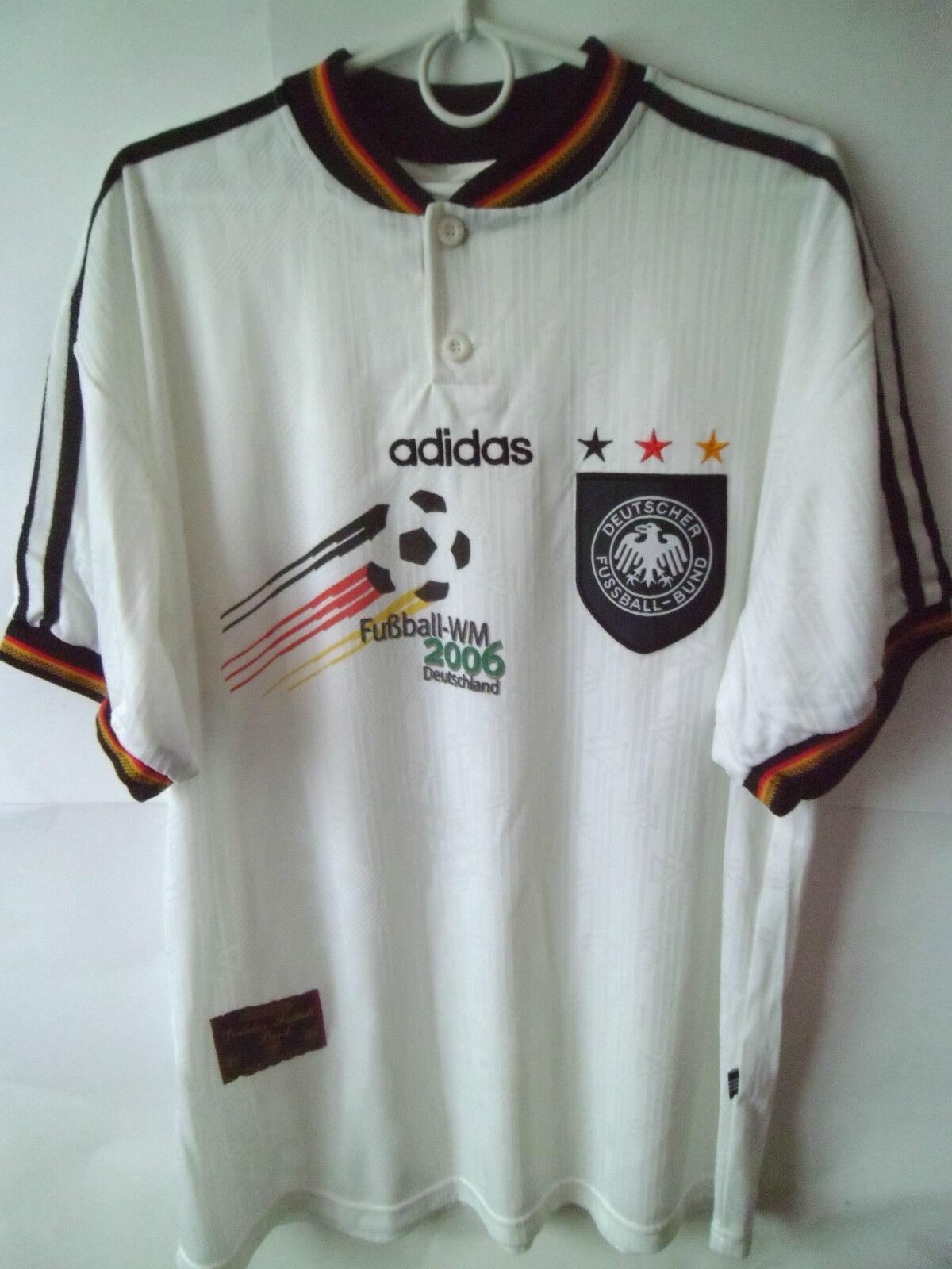 EXCELLENT    1996-98 Germany WM2006 Home Shirt Shirt Shirt Jersey XL  | Roman  7c0418