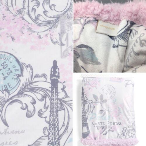 Paris Eiffel Tower Throw Blanket Luxury Soft Minky Sherpa Pink 50x60 Girls NEW