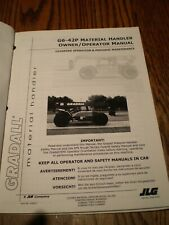 Gradall G6 42p Forklift Lift Truck Material Handler Operator Maintenance Manual