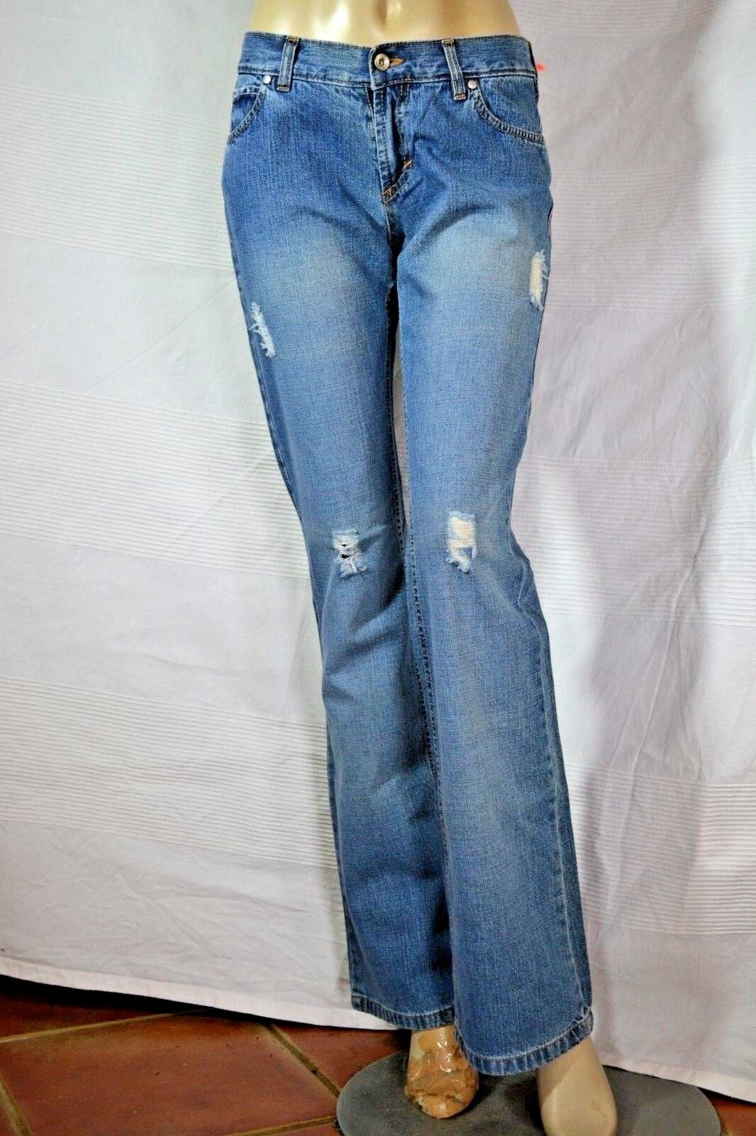 KENTE trousers destroyed JEANS Hose S 36 W28 neu  blue NEW tags blue