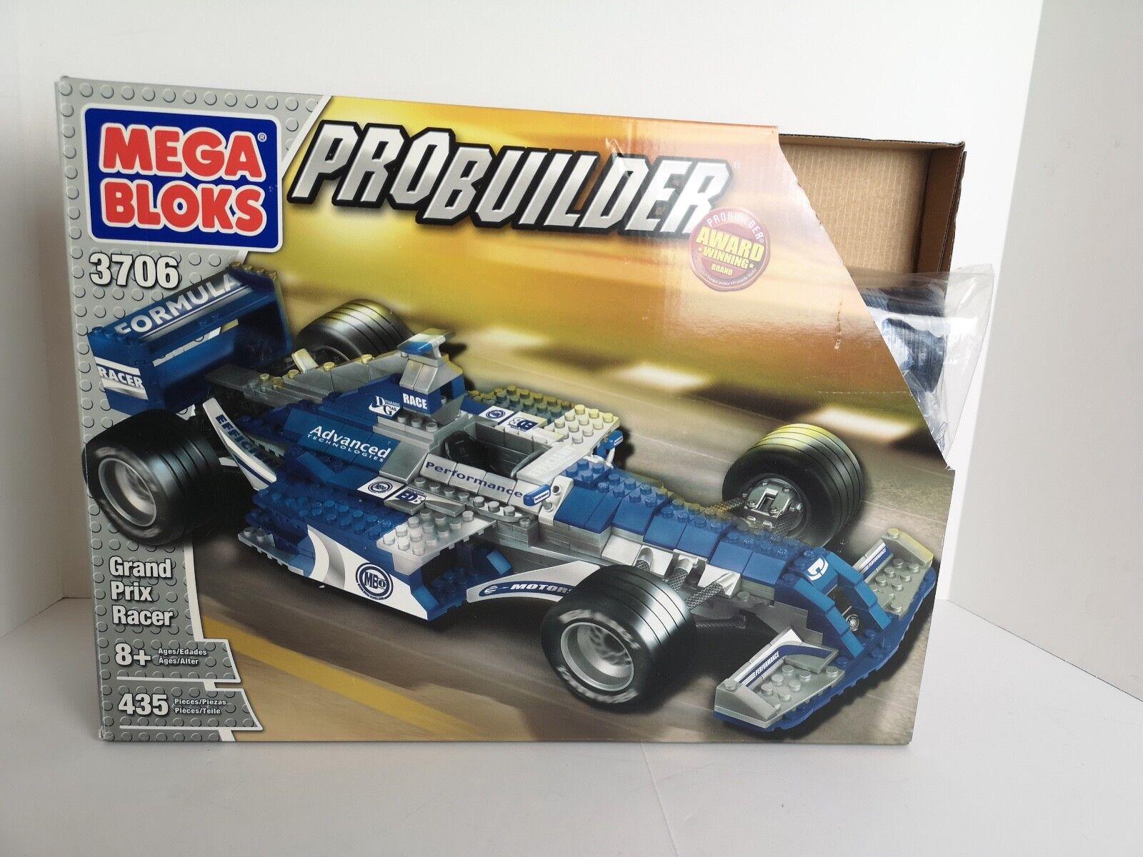 Neue grand prix f1 rennfahrer mega - bloks pro builder 3706 mit 435 stücke großer kit