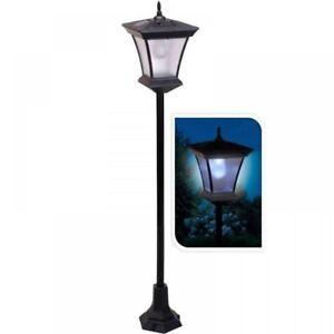 New 120cm solar powered lamp post light outdoor garden patio led image is loading new 120cm solar powered lamp post light outdoor aloadofball Image collections