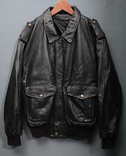 GIUBBINO IN PELLE LEATHER JACKET AVIATOR TG 50 G871