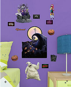 Image is loading NIGHTMARE-BEFORE-CHRISTMAS-wall-sticker-12-decals-JACK- & NIGHTMARE BEFORE CHRISTMAS wall sticker 12 decals JACK Sally Oogie ...