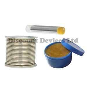 1mm-Solder-Soldering-Wire-Flux-Core-250g-15g-Reel-Tin-Lead-Tube-Flux-Paste-20g