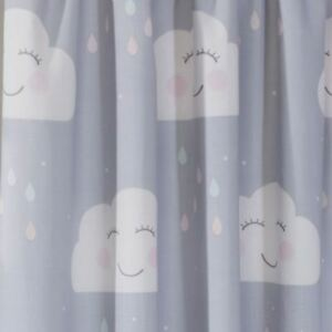 Details About Hy Clouds Grey Lined Curtains Kids Bedroom 66in X 54in 168cm 137cm