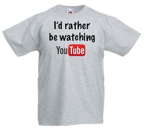 Childrens YouTube t shirt boys//girls online gamer video