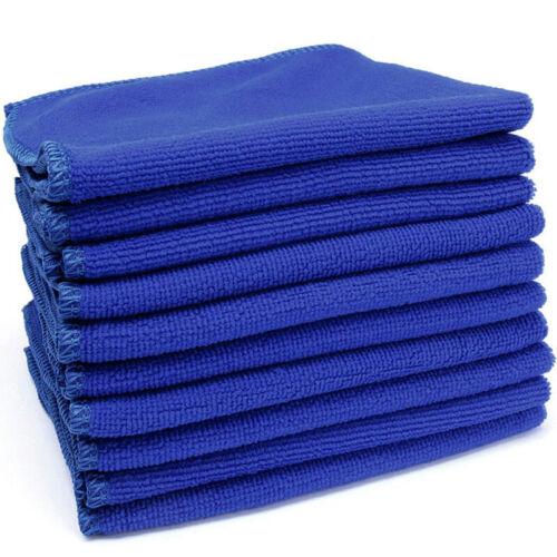 10Pcs Microfibre Cloths Cleaning Auto Car Detailing Softs Wash Towel Duster Sets