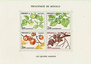 Die Vier Jahreszeiten Von Der Persimmon 1981 Schöne Côte 52mbl2m Firm In Structure Monaco Block Topical Stamps