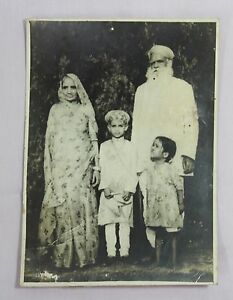 Old Vintage Black White Very Rare Indian Famliy Photograph