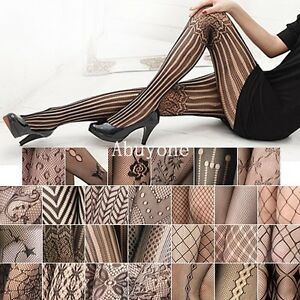 Fashion-Sexy-Black-Fishnet-Pattern-Jacquard-Stockings-Pantyhose-Tights