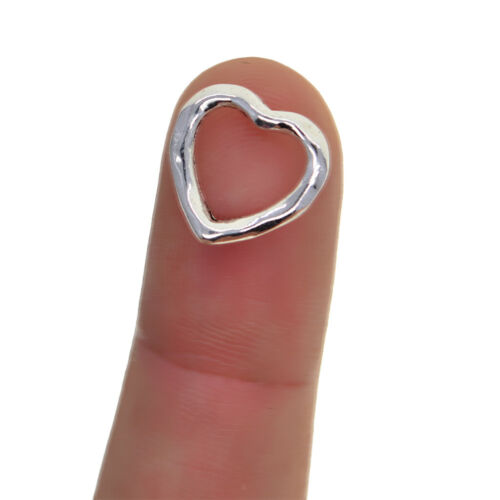 100 Piece Tibetan Silver Hollow Heart Charms Pendants for DIY Jewelry Making