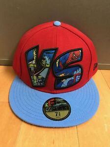 NEW-ERA-SPIDER-MAN-VS-GREEN-GOBLIN-FITTED-HAT-CAP-MARVEL-RED-BLUE-SZ-7-8