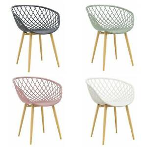 Sedia Poltroncina Di Design Tango Moderna In Polipropilene Base In Metallo Ebay