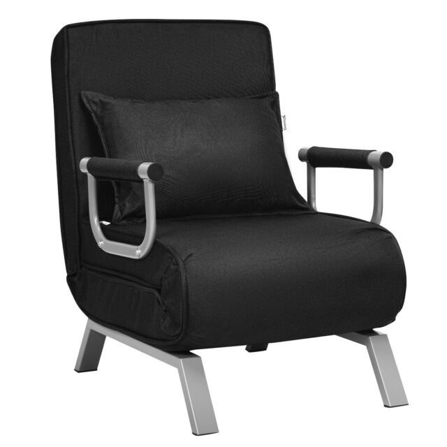 Folding 5 Position Convertible Sleeper Bed Armchair Lounge ...