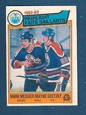 1983 O-PEE-CHEE GRETZKY / MESSIER HIGHLIGHT CARD #23