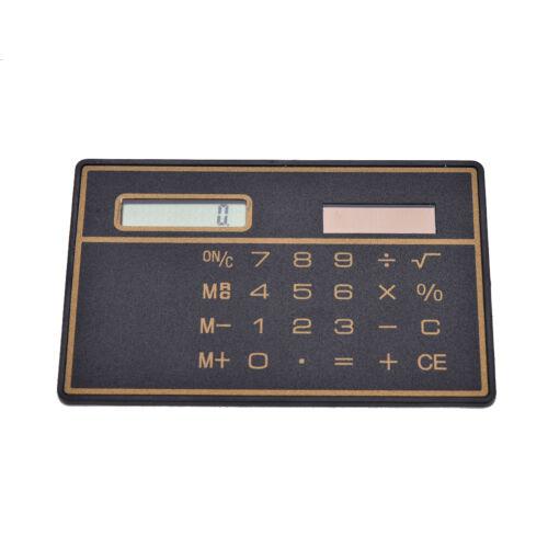 Kreditkarte Solar Power Taschenrechner Neuheit Small Travel Compact 4H