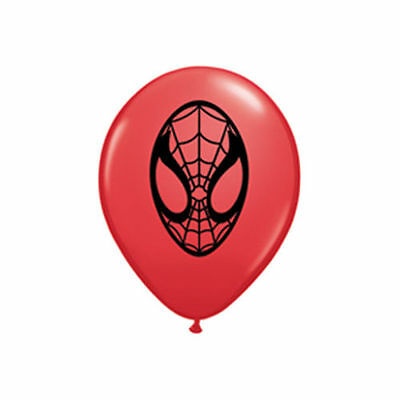 Spider-man Face Red Balloons 2 per pkt