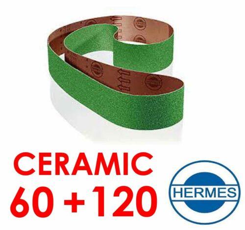 1 SET 1 X P60 1 x P120 CERAMIC SANDING BELTS FOR  ROBERT SORBY PRO EDGE