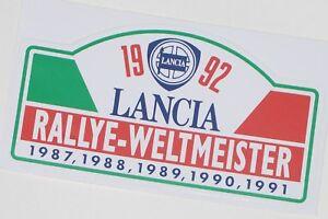 Lancia Delta Integrale Aufkleber , Lancia Aufkleber 1992 , Aufkleber 1992 - Berlin, Deutschland - Lancia Delta Integrale Aufkleber , Lancia Aufkleber 1992 , Aufkleber 1992 - Berlin, Deutschland