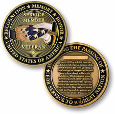 NEW Presenting The Flag Challenge Coin. 48445.