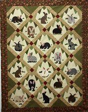 Rabbit Tracks Applique Quilt Pattern by Charlotte Warr Andersen - bunny bunnies