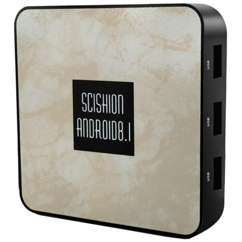 SCISHION RX4B TV Box 4K RK3328 Quad Core Android 8.1 4GB 32GB WiFi BT 4.0 H.265