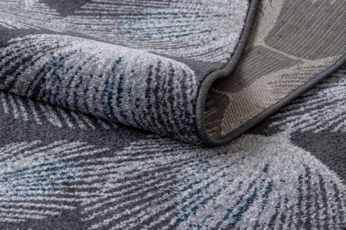 Modernen Läufer /'HEOS/' Gefieder grau blau Breite 70-80 cm beliebige Länge