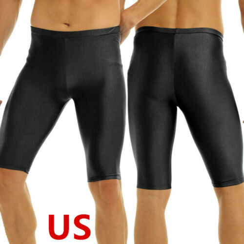 US Mens Compression Workout Gym Shorts Running Sports Fit Quick Dry Tight Pants