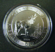 2015 Canada $2 Grey Wolf Series 3/4oz Silver Bullion Coin Canadian 0.75oz