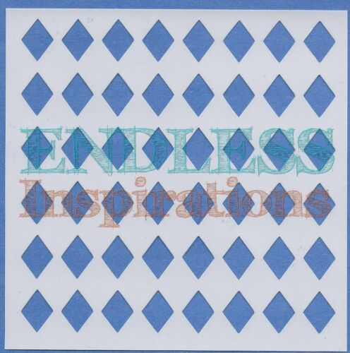 """- Free US Shipping Small Diamonds 6/""""x6/""""Endless Inspirations Stencil Harlequin"""