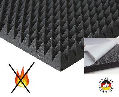 SELBSTKLEBEND Akustik Schaumstoff Dämmung Pyramidenschaumstoff 100x50x7cm