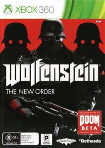XBOX-360-Wolfenstein-Il-Nuovo-Ordine-DISCO-4-NUOVO-1st-Class-consegna