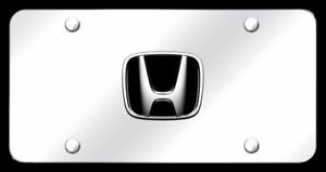 Honda CrossTour License Plate Frame Stainless Steel Engraved  Bright Chrome