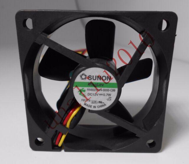 SUNON  HA60251V4-0000-C99 fan 60*60*25mm 12V 0.7W  3Pin