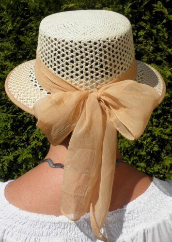 Damen Hut Strohhut Beige Sommerhut Strohhüte Damenhüte Urlaub Garten Sonne