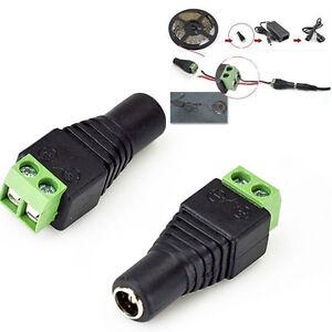 Female Eale DC Power Plug Adapter for 5050 3528 5060 Single Color LED StripYE
