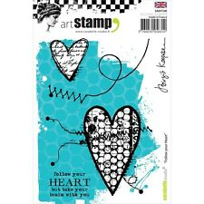 White//Transparent Rubber Carabelle Studio A6 Cling Stamp-Follow Your Heart by Birgit Koopsen