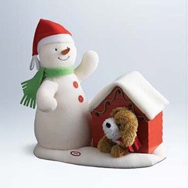 Deck The Halls Duo Plush Singing Snowman Dog Doghouse Hallmark