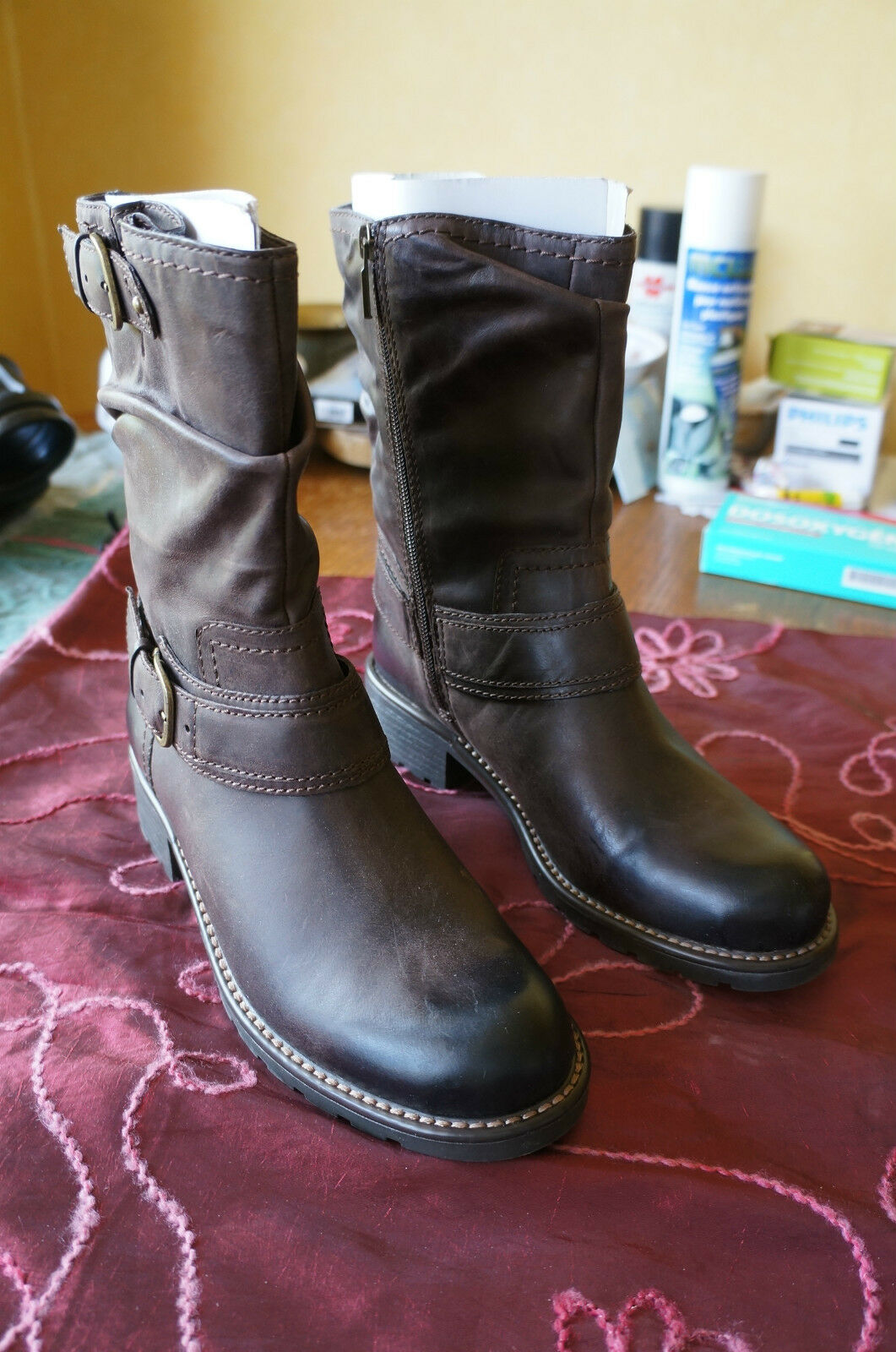 Clarks Orinocco Jive, bottes femme - Marron (marron Leather), 39.5 EU -