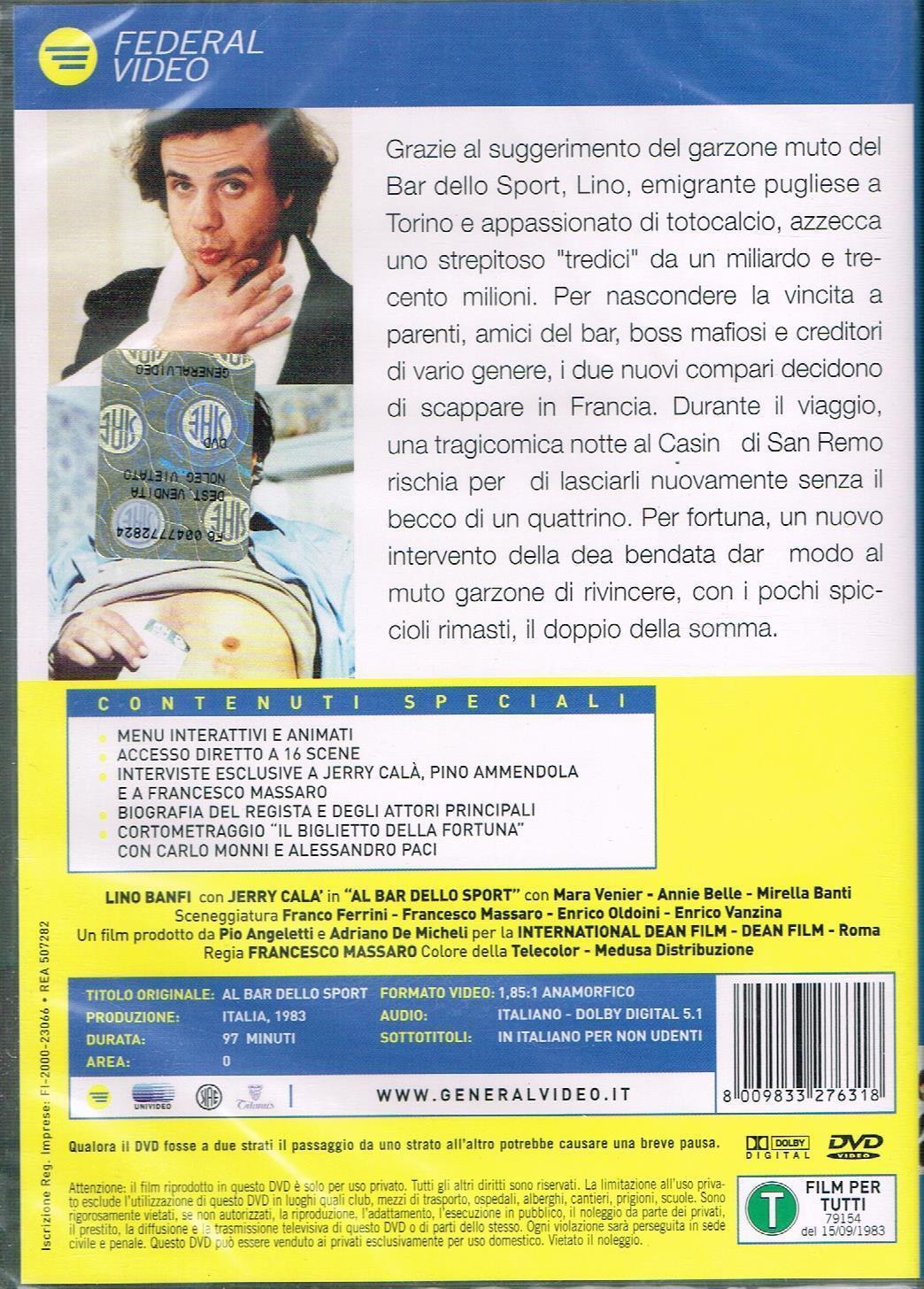 Al Bar Dello Sport Very Good Dvd Jerry Cala Lino Banfi Francesco For Sale Online Ebay