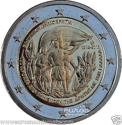 Pièce de 2 euros commémorative GRECE 2013  - Union avec la Créte  - 742 000 ex.