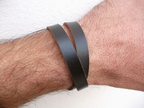 HANDICRAFT LEATHER WRISTBAND BRACELET CANAPART MADE IN ITALY!!!!
