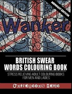 British Swear Words Adult Colouring Book Midnight Edition