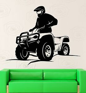 Wall-Decal-ATV-Quad-Bike-Extreme-Sport-Vinyl-Stickers-Art-Mural-ig2539