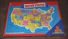 Vintage 1988 United States Map Puzzle 4806 Milton Bradley Rand ...