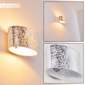 Glas Wand Leuchten silberfarben Wohn Schlaf Zimmer Beleuchtung Flur Dielen Lampe