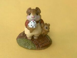 Wee-Forest-Folk-M100-Mousey-039-s-Cone-First-Version-from-1982-SUPER-RARE