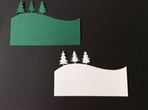 8 Pine Tree Border Die Cuts